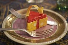 切片乳酪蛋糕 库存图片