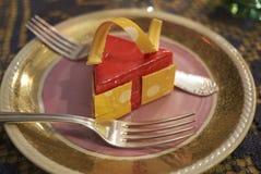 切片乳酪蛋糕 免版税图库摄影