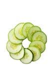 石南丛生的绿色黄瓜 免版税图库摄影