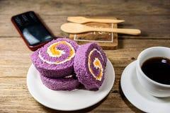 切片卷蛋糕 免版税库存照片