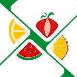 切片在白皮书三角的果子喜欢信封 能使用当邀请卡片,海报 免版税库存图片