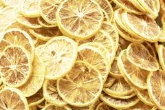 切片干柠檬 免版税库存照片