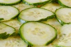 切片新鲜的黄瓜 图库摄影