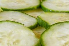 切片新鲜的黄瓜 免版税库存照片