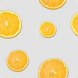 切片柑橘,柠檬,桔子楔住在背景从正方形,棋背景的无缝的样式 免版税库存照片