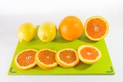 切片桔子和柠檬 免版税库存图片