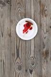 切片樱桃乳酪蛋糕 免版税库存图片