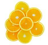 切片橙色果子 图库摄影