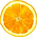 切片由水彩的橙色图画 免版税库存图片