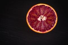 切片红色血液西西里人的桔子 免版税库存图片