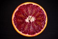 切片红色血液西西里人的桔子 图库摄影