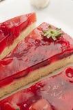 切片草莓蛋糕 免版税库存图片
