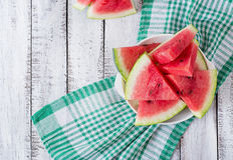 切片水多和鲜美西瓜 图库摄影
