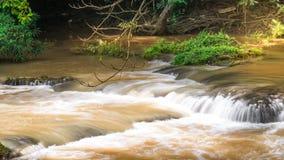 切特圣地Noi瀑布国家公园,泰国 库存图片