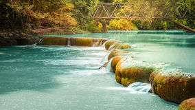 切特圣地Noi瀑布国家公园,泰国 库存照片