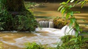 切特圣地Noi瀑布国家公园,泰国 免版税库存照片