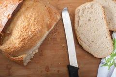 切的土耳其面包 库存照片