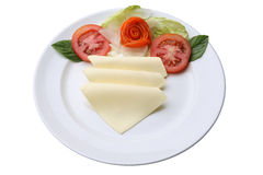 切的干酪 免版税图库摄影
