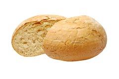 切的开胃嘎吱咬嚼的面包。隔绝。 免版税库存照片