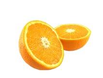 切的新鲜水果桔子 库存图片
