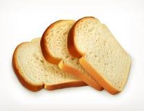 切的新鲜的麦子面包 免版税库存照片