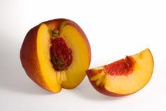 切的桃子 免版税图库摄影