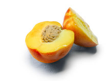 切的桃子 库存照片