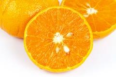 切的橙色果子 库存照片