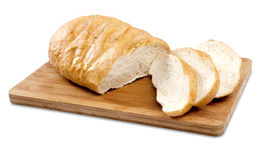 切的法国大面包 库存照片