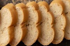 切的法式面包 免版税图库摄影