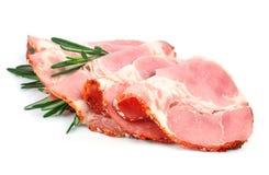 切的猪肉烟肉 免版税库存照片