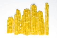 切的玉米 库存图片