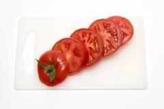 切的红色蕃茄 图库摄影