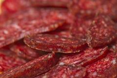 切的肉开胃菜 库存照片