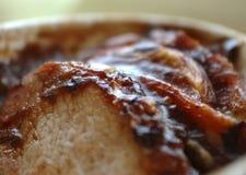 切的肉烘烤 免版税库存图片