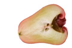 切的苹果番石榴 图库摄影