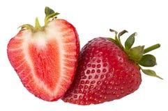 切的草莓 免版税图库摄影