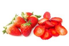切的草莓 库存图片