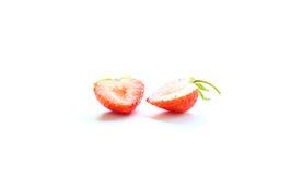 切的草莓 免版税库存照片