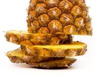 切的菠萝 免版税库存照片