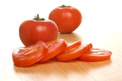 切的蕃茄 库存照片