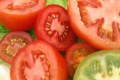 切的蕃茄 免版税库存照片