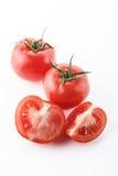 切的蕃茄 库存图片