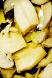 切的蘑菇 库存图片