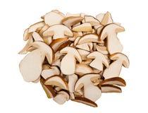 切的蘑菇 免版税库存照片