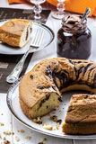 切的蛋糕巧克力 免版税库存图片
