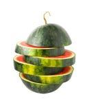 切的西瓜 免版税库存图片