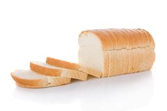 切的面包大面包 免版税库存照片