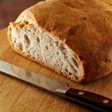 切的面包新鲜的大面包 库存照片