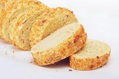 切的面包玉米 库存图片